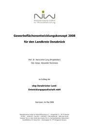 Gewerbeflächenentwicklungskonzept 2008 für den Landkreis ... - NIW
