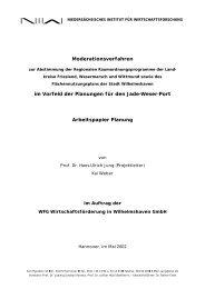 Moderationsverfahren im Vorfeld der Planungen für den Jade ... - NIW