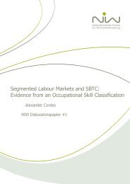 Segmented Labour Markets and SBTC: Evidence from an ... - NIW