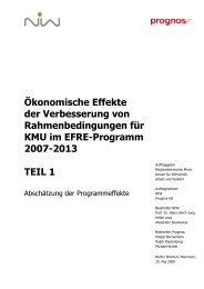 EFRE-KMU Teil 1 Abschätzung der Programmeffekte 20 03 02 - NIW