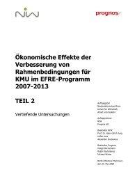 EFRE-KMU Teil 2 Vertiefende Untersuchungen 20 03 02 - NIW