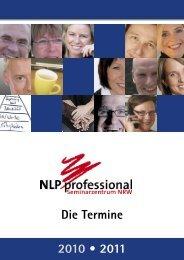 2010 • 2011 Die Termine - NLP professional