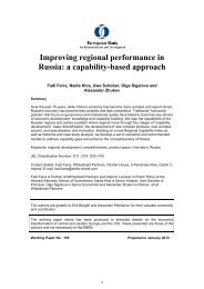 Improving regional performance in Russia: a capability-based approach