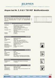 Alupan Isol Nr. 5, 6 & 9 T30 VKF Multifunktionstür - JELD-WEN ...