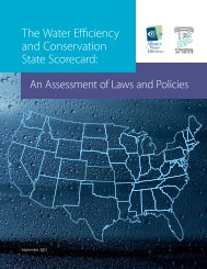 The Water Efficiency and Conservation State Scorecard: