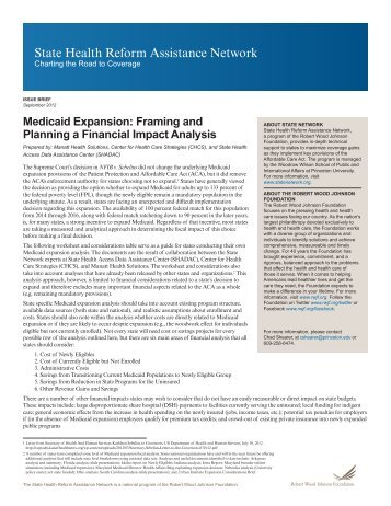 State-Network-Medicaid-Expansion-Framing-and-Planning-a-Financial-Impact-Analysis