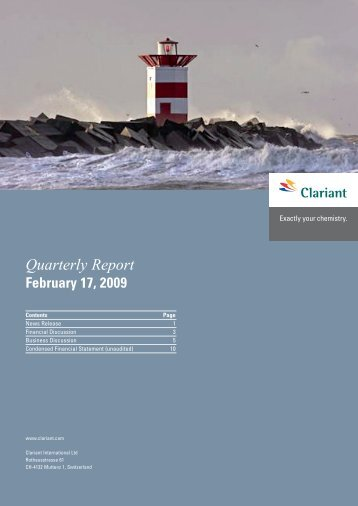 Q4 results financial results - Clariant