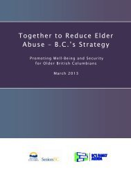 Together to Reduce Elder Abuse – B.C.'s Strategy