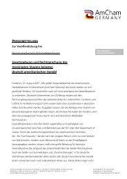 Pressemitteilung - AmCham Germany