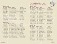 Roll Call 2012.indd - Pi Beta Phi