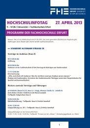 HoCHSCHUlInFotaG 27. aPrIl 2013