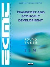 ECMT Round Tables : Transport and Economic Development