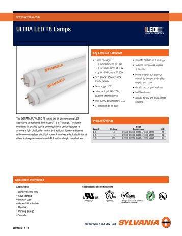 ULTRA LED T8 Lamps