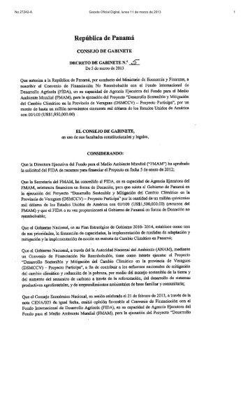 No 27242-A Gaceta Oficial Digital, lunes 11 de marzo de 2013 1