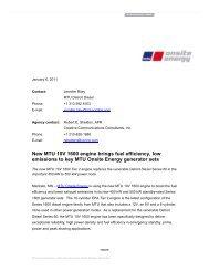 New MTU 10V 1600 engine brings fuel efficiency - MTU Onsite Energy