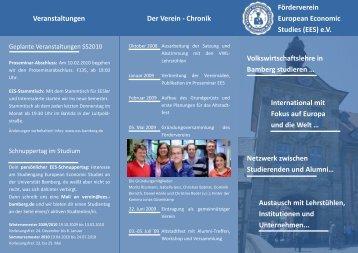 Chronik Veranstaltungen Volkswirtschaftslehre in Bamberg studie