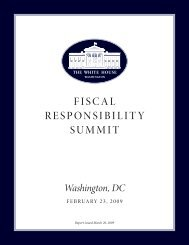 Fiscal Responsibility summit