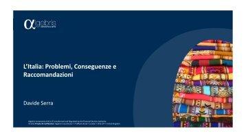 L'Italia: Problemi, Conseguenze e Raccomandazioni