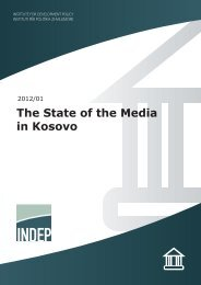 The State of the Media in Kosovo