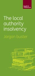 The local authority insolvency
