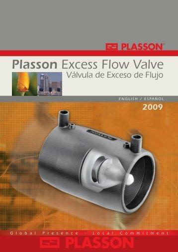 Plasson Excess Flow Valve