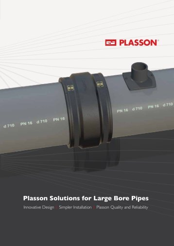 Plasson Solutions for Large Bore Pipes