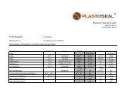 PTFE Ekonol® - Plastoseal Produktions GmbH