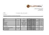 PTFE I - Plastoseal Produktions GmbH