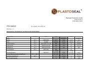 PTFE GRAPHIT - Plastoseal Produktions GmbH