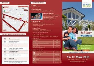 Ausstellerfolder 2013 - PotsdamBAU+ENERGIE