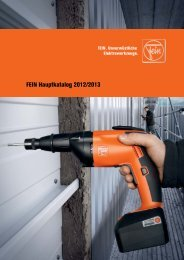 FEIN Hauptkatalog 2012/2013 - C. & E. FEIN GmbH