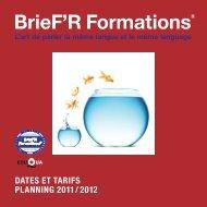 Téléchargez notre programme 2011-2012 (PDF) - PNL Coach