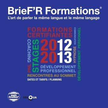 Téléchargez notre nouveau programme 2012-2013 ... - PNL  Coach