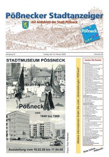 Ausgabe Februar 2009 - Stadt Pößneck