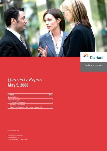 Quarterly Report - Clariant
