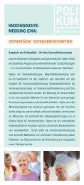 KNOCHENDICHTE- MESSUNG (DXA) ORTHOPÄDIE ...
