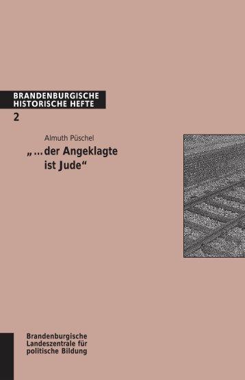 """""""... der Angeklagte ist Jude"""" - Brandenburgische Landeszentrale für ..."""