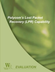 Polycom's Lost Packet Recovery - Judge Unified Communications