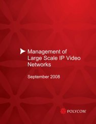 Management of Large Scale Video Networks - Polycom