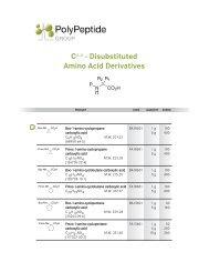 Disub A A Deriv_ppl:MB_09.08 - PolyPeptide Laboratories
