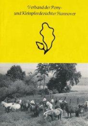 25 Jahre Ponyverband Hannover - Flyer zum Jubiläum