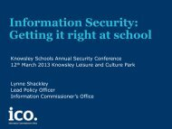 Information Security: Getting it right at school