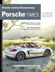 Ausgabe 1/12 - Porsche Zentrum Braunschweig