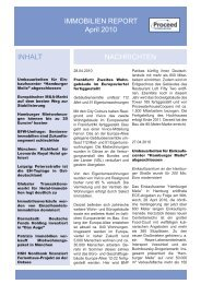 IMMOBILIEN REPORT April 2010 - Proceed Portfolio Services