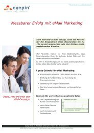 eyepin e-Mail Marketing Software - Posimis Internet GmbH