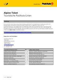 Alpine Ticket: Touristische PostAuto-LinienLink wird in