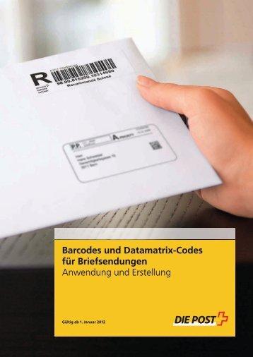 Barcodes und Datamatrix-Codes für Briefsendungen - Die ...