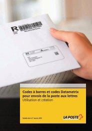 Codes à barres et codes Datamatrix pour envois ... - La Poste Suisse