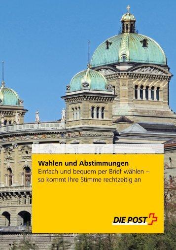 Wahlen und Abstimmungen - Die Schweizerische Post