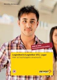 Logistikerin/Logistiker EFZ, Lager - Die Schweizerische Post